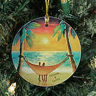 Personalized Ceramic Beach Sunset Ornament