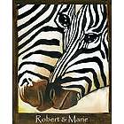 Striped Pair Personalized Zebra Print