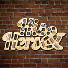His & Hers Wine Cork and Beer Cap Bar Sign