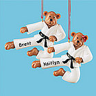Personalized Karate Bear Ornament for Boy or Girl