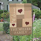Loving Hearts Personalized Family Garden Flag