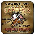Personalized Cowboy Saloon Coasters