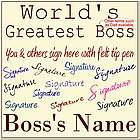 Personalized World's Greatest Boss Sign