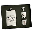 Porcelain Poker Flask Set