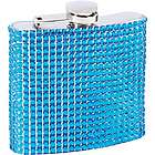 Stainless Steel Blue Bling Flask