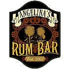 Personalized Handcrafted Rum Bar Sign