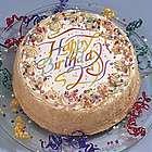 Vanilla Birthday Cake in Gold Gift Box