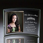 Quinceañera Curved Glass Vertical 5x7 Photo Frame