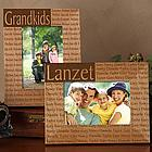 Family is Forever Personalized Wood Frame