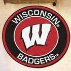 Wisconsin Badgers Round Floor Mat
