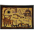 Caribbean Map Leather Photo Album in Natural