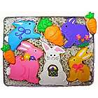 Easter Bunnies and Carrots Cookie Gift Tin