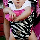 Zoe Zebra Baby Carrier Slip Cover
