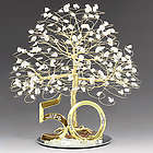 Gold 50th Anniversary Tree / Cake Topper