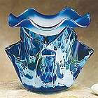 Wavy Blue Glass Marbled Fragrance Burner