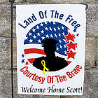 Personalized Land of the Free Garden Flag