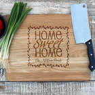 Home Sweet Home Personalized Oak Cutting Board
