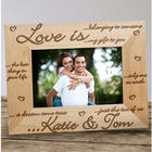Love Is Engraved Wood Picture Frame