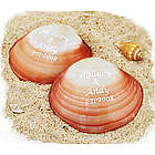 Personalized Polished Clam Seashell Favors