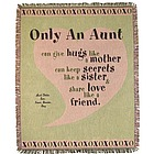 Personalized Aunt Pink Heart Throw