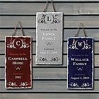 Date Established Personalized Family Name Wall Plaque