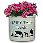 Personalized Natural Ivory Mare and Colt Crock