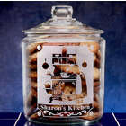 Personalized Vintage Kitchen Glass Cookie Jar