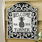 Personalized Scroll Tile Welcome Plaque