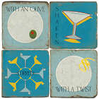 Personalized Martini Time Marble Coasters
