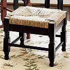Solid Wood Classic Rush Seat Footstool
