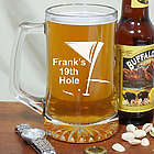 Engraved 19th Hole Glass Beer Mug