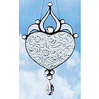 Floreal Heart Clear Glass Suncatcher