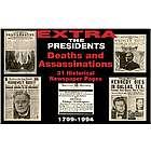 Presidential Deaths & Assassinations Replica Newspaper