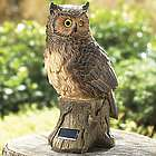 Solar Night Owl Garden Statue