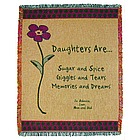 Personalized Daughter Throw