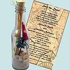 Palm Paradise Bottle Invitation/Beach Party Favor