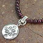 Lucky Charm Garnet Pendant Necklace