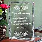 Engraved Anniversary Plaque