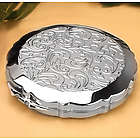 Classy Filagree Round Compact Mirror