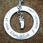Footprints in the Sand Hand Stamped Sterling Necklace