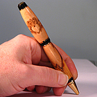 Claddagh Engraved Handmade Wooden Pen.
