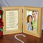 To My Love Natural Wood Bi-Fold Personalized Picture Frame