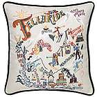 Hand Embroidered Ski Telluride Pillow