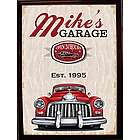 Personalized Car Garage Wood Sign
