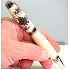 Goldfish Engraved Hand Turned Pen