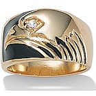 Men's DiamonUltra Cubic Zirconia Eagle Ring