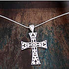 Sterling Silver Floral Faith Cross Necklace
