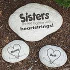 Engraved Sister Heart Garden Stone