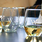 Connoisseur's Personalized Stemless Wine Glasses