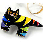 Fat Cat Ceramic Pin